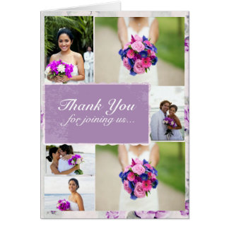 Lilac Wedding Thank You Custom Photos Note Card