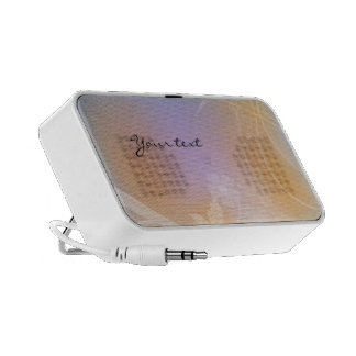 Lilac, white and orange flourishes iPhone speaker