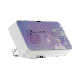 Lilac, white and pink flourishes mp3 speaker