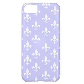 Lilac & White Fleur De Lis Pattern Cover For iPhone 5C