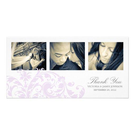 LILAC & WHITE FLOURISH | WEDDING THANK YOU CARD PHOTO CARDS