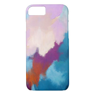 Lilac with Aqua Abstract Art by Kimberly Turnbull Case-Mate iPhone Case