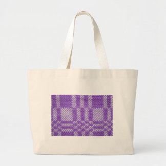 Lilac Woven Fabric Effect Large Tote Bag