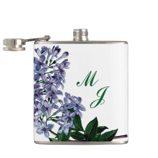 Lilacs and Monogram Flasks