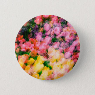 Lilacs and Tulips 2 Inch Round Button