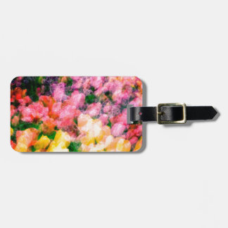Lilacs and Tulips Luggage Tag