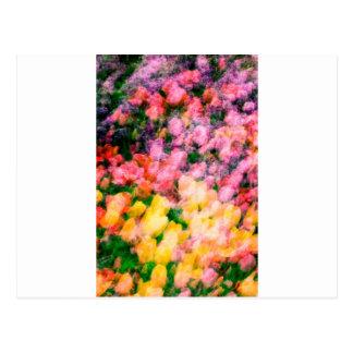 Lilacs and Tulips Postcard