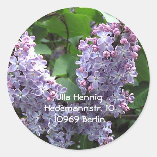 Lilacs Classic Round Sticker