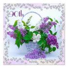 Lilacs & Diamonds 90th Birthday Card