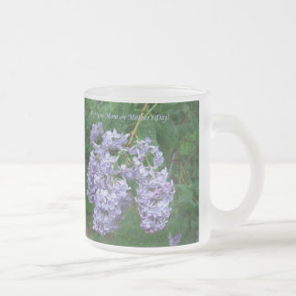 Lilacs for Mother's Day Frosted Glass Coffee Mug