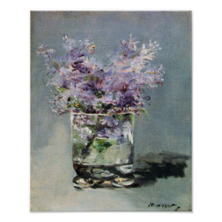 Lilacs in a Glass Edouard Manet Fine Art Poster