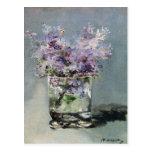 Lilacs in a Glass Fine Art Postcard