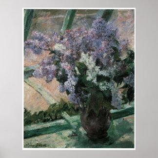 Lilacs in a Window, 1880 Mary Cassatt Print