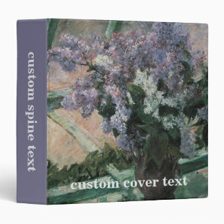 Lilacs in a Window Cassatt Vintage Impressionism Binder