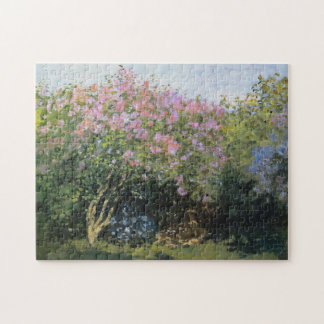 Lilacs in the Sun Monet Fine Art Jigsaw Puzzle