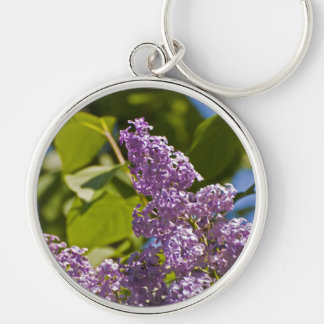 Lilacs in the Sun Silver-Colored Round Keychain