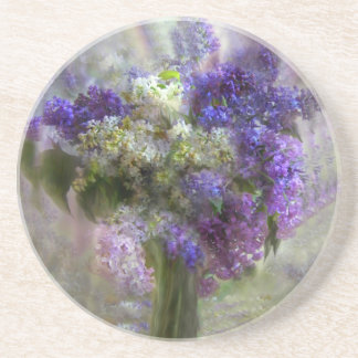 Lilacs Of Love Art Coaster