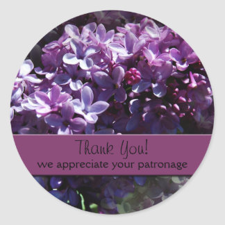 Lilacs Thank You Stickers