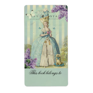 Lilas au printemps, bookplate shipping label