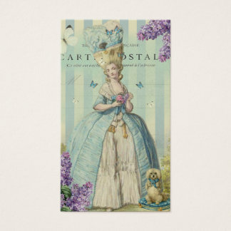 Lilas au printemps, on gold business card