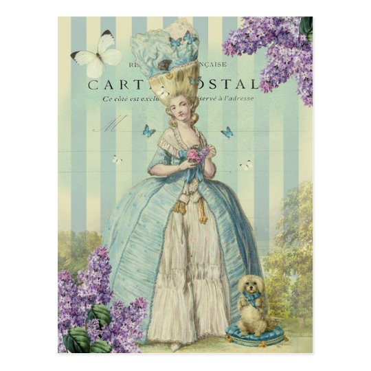 Lilas au printemps, with lilacs postcard