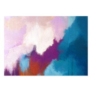 Lilas avec la peinture abstraite moderne d'Aqua -  Modèle De Carte De Visite