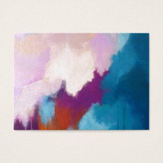 Lilas avec la peinture abstraite moderne d'Aqua - Cartes De Visite