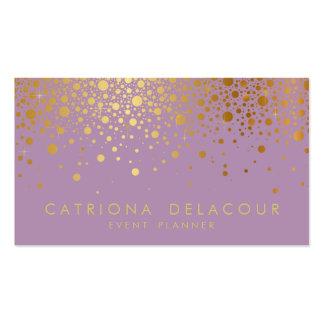 Lilas du carte de visite   de confettis de feuille