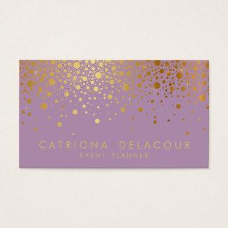 Lilas du carte de visite | de confettis de feuille