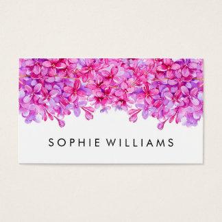 Lilas floraux pourpres professionnels cartes de visite