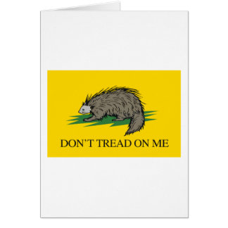 Lilbertarian - Don't Tread on Me Flag - -  Card