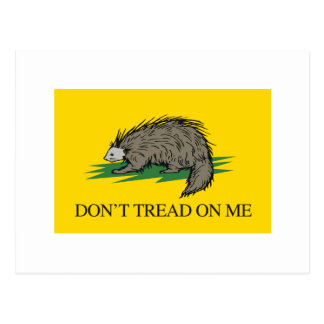 Lilbertarian - Don't Tread on Me Flag - -  Postcard
