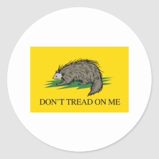 Lilbertarian - Don't Tread on Me Flag - -  Round Sticker
