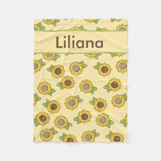 Liliana''s Personalized Sunflower Blanket