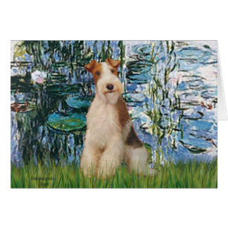 Lilies 1 - Wire Fox Terrier 3 Card