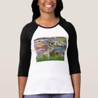 Lilies 2 -Norwegian Elkhound T Shirts