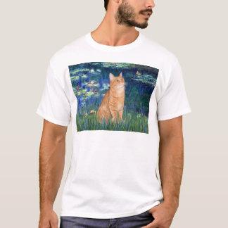 Lilies 5 - Orange Tabby SH cat 46 T-Shirt