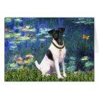 Lilies 5 - Smooth Fox Terrier Card