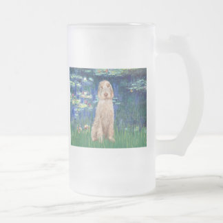 Lilies 5 - Spinone Italiano 12 Frosted Glass Beer Mug