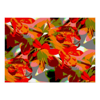 Lilies abstract poster