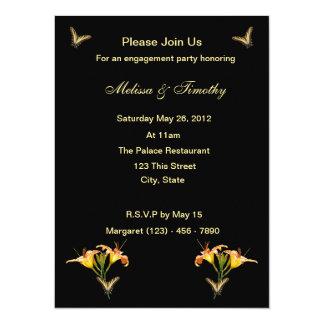 Lilies and Butterflies Card
