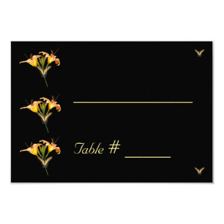 Lilies and Butterflies wedding place card