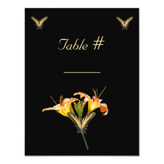 Lilies and Butterflies wedding table place card Custom Invitation