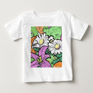 Lilies and Daisies Baby T-Shirt