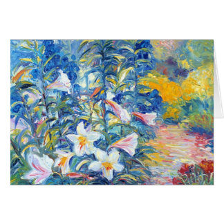Lilies and Delphinium Card