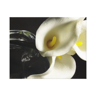 Lilies and Glass Canvas Print