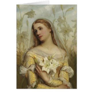 Lilies by Gustav Pope (d.1895) Blank Note Card Cus