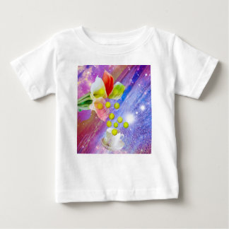 Lilies drop tennis balls to celebrate . baby T-Shirt
