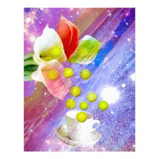 Lilies drop tennis balls to celebrate . letterhead