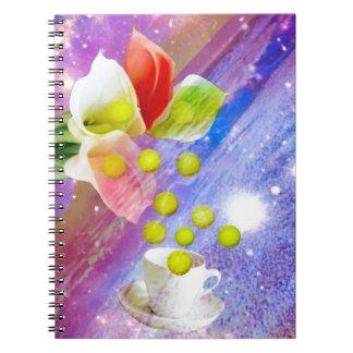 Lilies drop tennis balls to celebrate . notebook